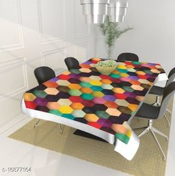 PVC Plastic Centre Table Cover/Table Cloth for 4 Seater (40 inches X 60 Inches )