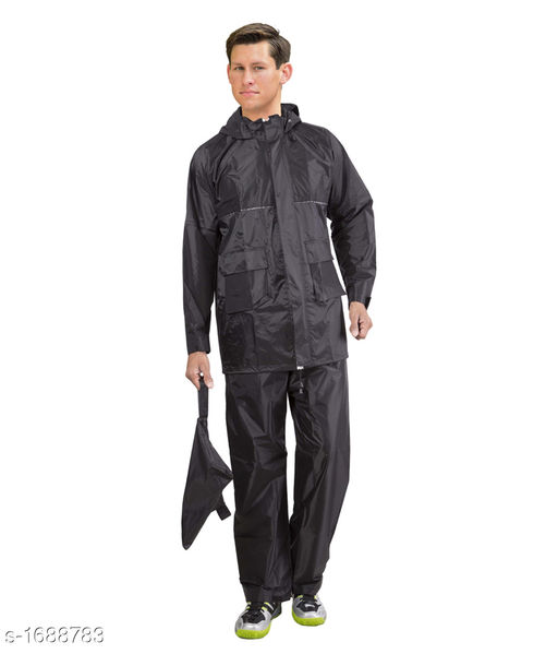Raincoat Elegant Mens Solid Nylon Raincoat  *Material* Nylon  *Size * XS, S, M, L, XL, XXL  *Description* It Has 1 Piece Of Men's Rain Jacket & Pant  *Work * Solid  *Sizes Available* XXS, XS, S, M, L, XL, XXL, XXXL, 4XL, 5XL, 6XL, 7XL, 8XL, 9XL, 10XL, Free Size *   Catalog Rating: ★3.4 (21)  Catalog Name: Elegant Mens Solid Nylon Raincoats CatalogID_220505 C70-SC1468 Code: 603-1688783-