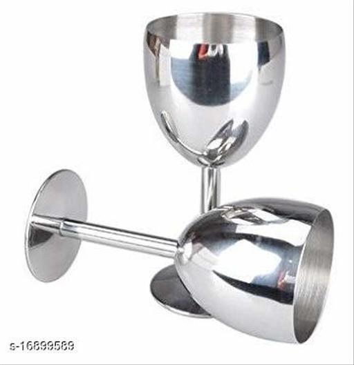 stainless Steel Goblet/ wine glasses - set of 2 (250 ml each)