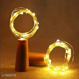 20 LED Wine Bottle CorkCopper Wire String Lights, 2M/7.2FT BatteryOperated (Warm White)Battery Included (Pack of 1)