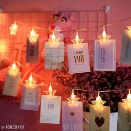 Star Shape 10 LED  Photo Clips Battery Operated clips for Hanging Pictures Birthday, Diwali, Christmas Party, Home Décor