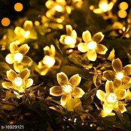 16LED Blossom String Lights for Home Decoration (Warm White)3.2 Meter Long 2 Pin Plug