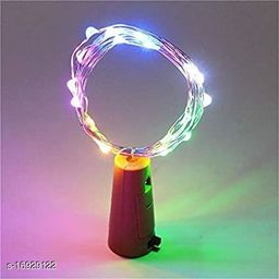 20 LED Wine Bottle CorkCopper Wire String Lights, 2M/7.2FT BatteryOperated (Multicolour)Battery Included (Pack of 1)