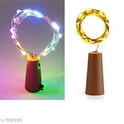 Combo pack  20 LED Wine Bottle CorkCopper Wire String Lights, multicolor and Warm White combo pack (pack of 2) Battery Included  2M/7.2FT