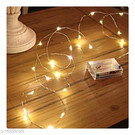 50 Led 5 Meter Battery Operated Sliver String Light Fairy Lights for Indoor and Outdoor Party Home Festival Decorations