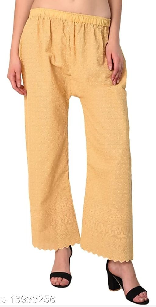 Relaxed Women Brown Cotton Blend Trousers(Suitable for Waist Size 28 to 44 Inches)