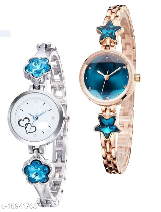watchstar special design stylish watches combo for girls