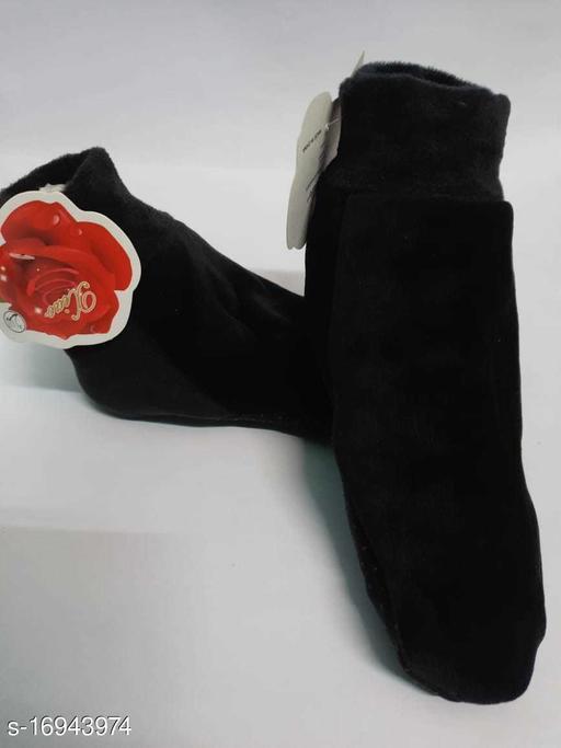 TLISMI BOOT SOCKS WINTER WARM SOCKS FREE SIZE ( 3 PAIR) BLACK