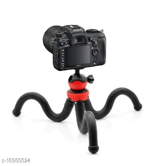 MobFest® 12 Inch Flexible Octopus/Gorilla Tripod with Mobile Holder for Mobiles DSLR & GoPro Action Cameras (Supports upto 1.5 KG)