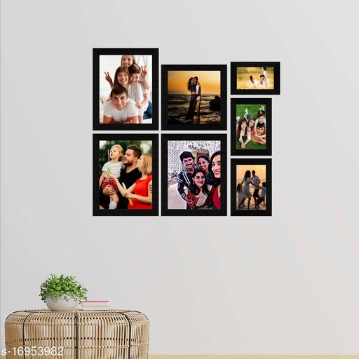 E Deals Set of 7 Collage Synthetic Framed with Acrylic Glass Photo Frame ( 8 Inch X 8 Inch - 1 , 5 Inch X 7 Inch - 2 , 4 Inch X 6 Inch - 1 , 8 Inch X 10 Inch - 3) PF-103
