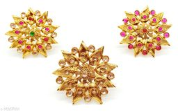 Floral Style Multicolour Combo Ring Set
