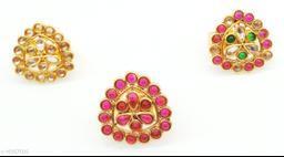 Multicolour Traditional Kundan combo Ring Set