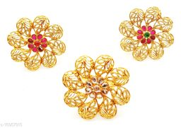 Simple Yet Elegant Gold Plated Ring Set