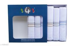 S4S 6 Piece Gift Box Pack 100% Cotton Mens Handkerchiefs