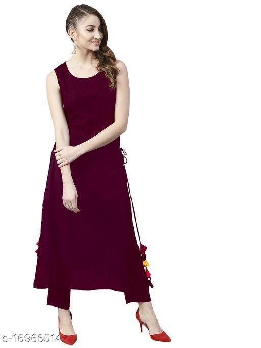 Women's Rayon Sleeveless Stitched Kurti