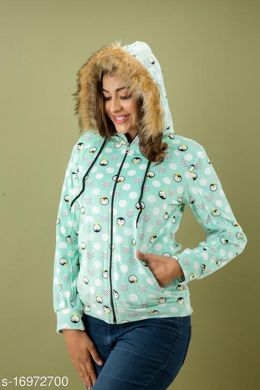 Mialo Penguin print open zip sweatshirt