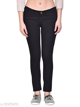 Women Black Skinny Fit Mid-Rise Clean Look Stretchable Jeans