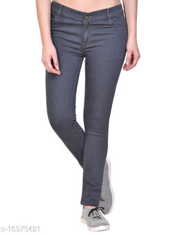 Women Grey Skinny Fit Mid-Rise Clean Look Stretchable Jeans
