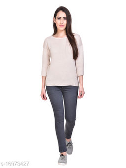 Women Grey Slim Fit Mid-Rise Clean Look Stretchable Jeans