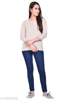 Women Navy Blue Slim Fit Mid-Rise Clean Look Stretchable Jeans