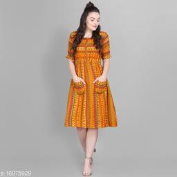 Women's Foil Printed Skater Dress