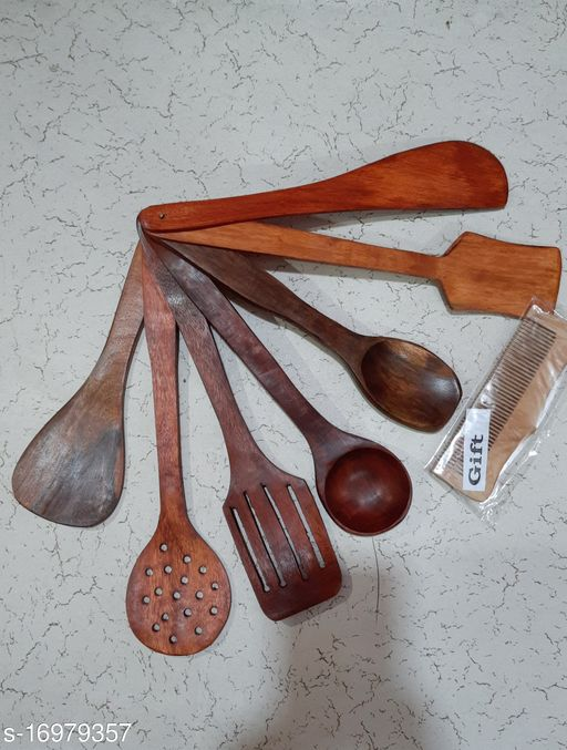 Premium Cutlery Set with free gift made of wood. (Set of 7 spoons)