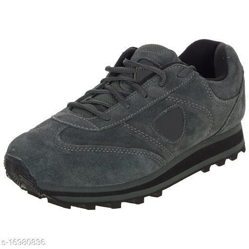 Stylish Men's Rubber Grey Sports Shoes