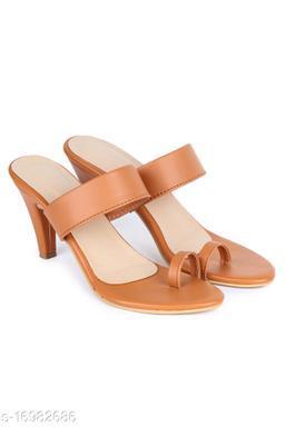 Trendy Women's Cream Heels