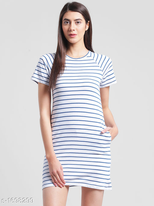 Women's Printed T-Shirt Cotton Dress