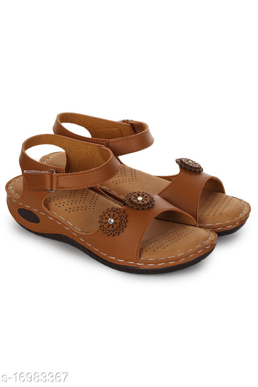 Attractive Women's PU Brown Sandals