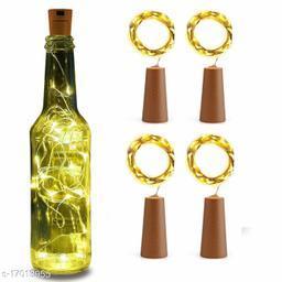 Pack of 4 Wine Bottle Cork Copper Wire String Lights (2 Meter 20 LED in Each)