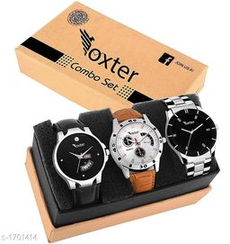 Trendy Men's Watches Combo