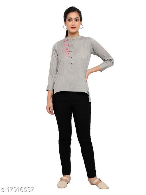 Women's Lilan Cotton Blend Stitched Shirts