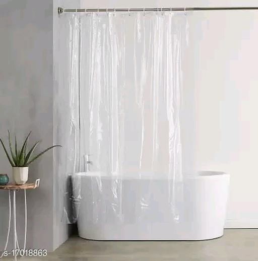 HOMECRUST 270 cm (9 ft) PVC Shower Curtain (Pack Of 2)  (Plain, Transparent)