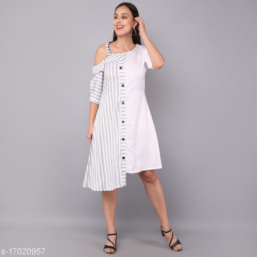 White Color Reyon With Cotton Western