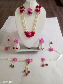 Exquisite Elite Artificial Floral Jewellery Set