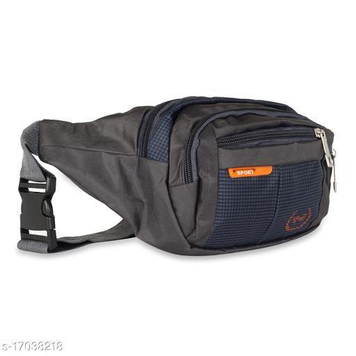 Trendy Men's Navy Blue Nylon Waist Bag