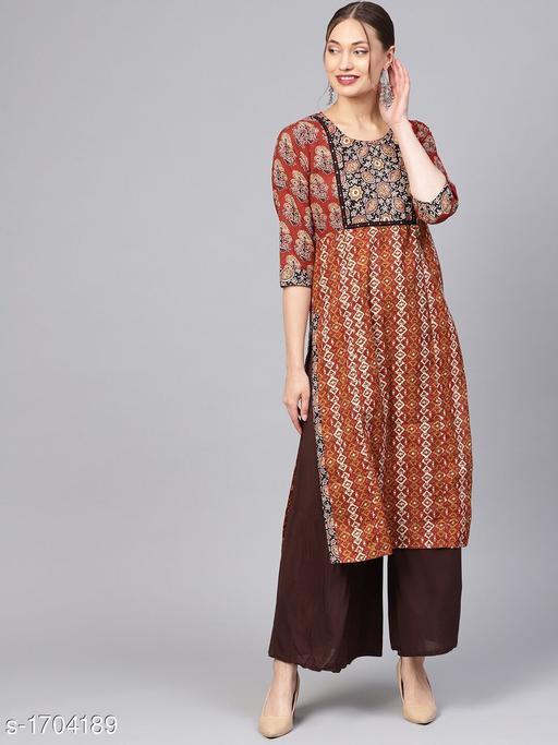 Women's Printed Cotton Kurti