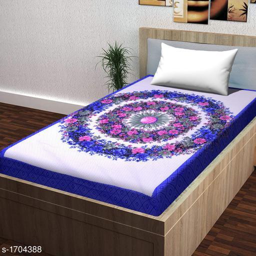 Dainty Cotton Printed Single Bedsheet