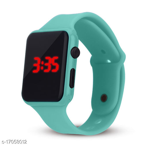 I Phone Square Skygreen LED Digital  W24 (NOT SMART) Watch