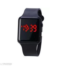 I Phone Square Black LED Digital  W24 Pack Of 1(NOT SMART) Watch