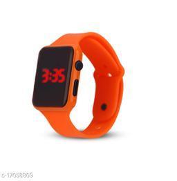 I Phone Square Orange LED Digital  W24  (NOT SMART) Watch