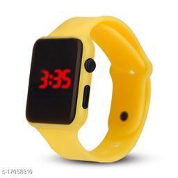 I Phone Square Yellow LED Digital  W24 (NOT SMART) Watch