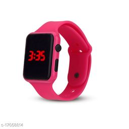 I Phone Square Pink LED Digital  W24  Pack Of 1 (NOT SMART) Watch