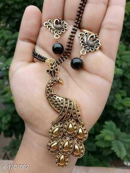 Women's Alloy Oxidised Gold Mangalsutras