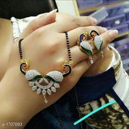 Women's Alloy American Diamond Mangalsutras