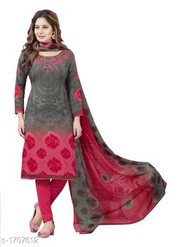 Trendy Synthetic Printed Suits & Dress Materials