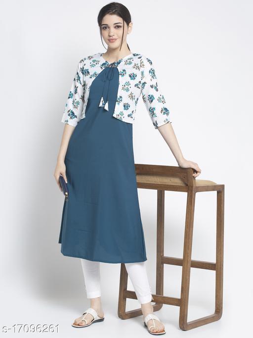 The Dressery Women's Crepe Printed A-Line Kurti