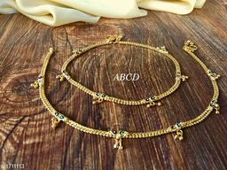 Women's Alloy Gold Plated Anklets & Toe Rings