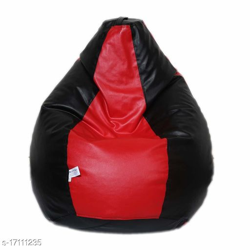 Kenji XL Bean Bag Cover Classic Without Beans- Red and Black